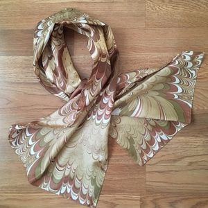 Vintage Earth Tone Oblong Scarf